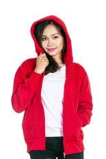 Spesifikasi Bajukitaindonesia Jaket Hoodie Zipper Polos Merah Terang Pria Dan Wanita Paling Bagus