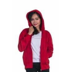 Review Toko Bajukitaindonesia Jaket Hoodie Zipper Polos Merahterang Pria Dan Wanita Online