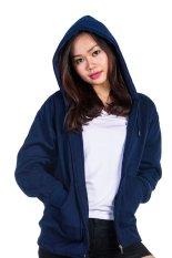 Diskon Bajukitaindonesia Jaket Hoodie Zipper Polos Navy Blue Pria Dan Wanita Bajukitaindonesia Jacket Dki Jakarta