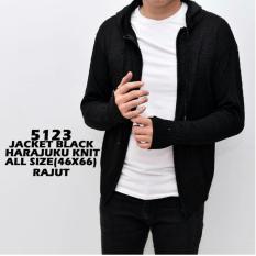 bajuku murah 5123 black harajuku knit sweater kaos pria tangan panjang hoodied kaos oblong pria atasan pria fashion pria casual formal batik superhero long sleeves short sleeves sweatshirt jaket bomber pria