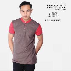 bajuku murah brown mix pink 2011 polo shirt kaos polo pria kerah sanghai kerah berdiri lengan pendek sweater casual formal batik kerja kantor fashion pria atasan pria kaos oblong superhero