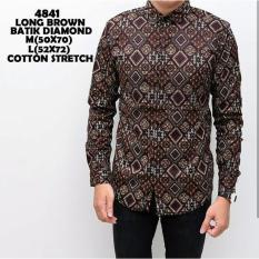 Beli Bajuku Murah Long Brown Batik Diamond Nyicil