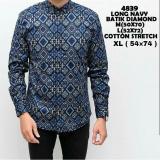 Toko Bajuku Murah Long Navy Batik Diamond Baju Kecee Online