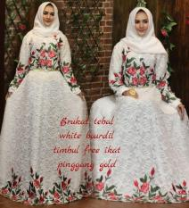 Baju/pakaian wanita-gaun dress gamis pesta-brokat size XL-resleting busui-umbrella klok 4m By Nurul Collection