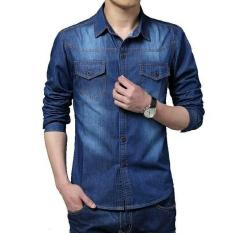 Rp 110.000 BajuReady 1043 Kemaja Jeans Wash Pria Lengan Panjang Model  Terbaru Pakaian Cowok Baju ... 3edec5e61f