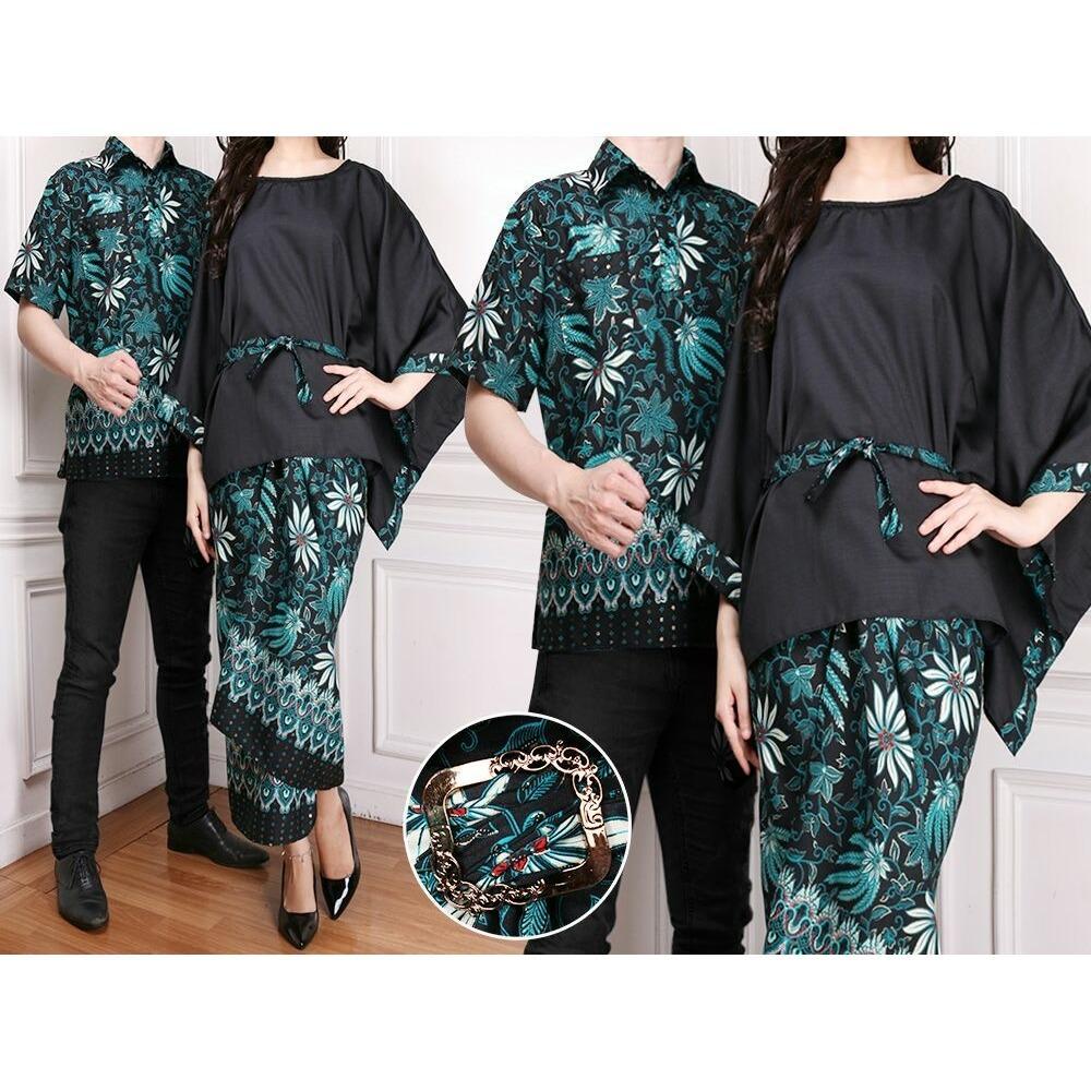 Jualan Promo Bajuready 1055 Baju Couple Batik Sarimbit Pakaian Modern Pasangan Keluarga Songket Kemeja Koko Pria Lengan Pendek
