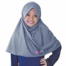Bajuyuli - Kerudung Jilbab Anak Murah Polos Pita Cantik Abu SMA