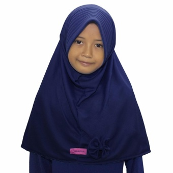 Harga baru Bajuyuli - Kerudung Jilbab Anak Murah Polos Pita Cantik Biru Dongker sale - Hanya Rp12.996