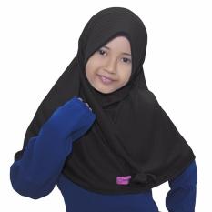 Bajuyuli - Kerudung Jilbab Anak Murah Polos Pita Cantik Hitam