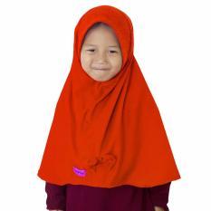 Bajuyuli - Kerudung Jilbab Anak Murah Polos Pita Cantik Oranye