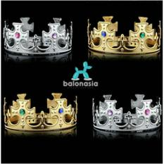 Balonasia Accessories Pesta Mahkota KIng - Gold
