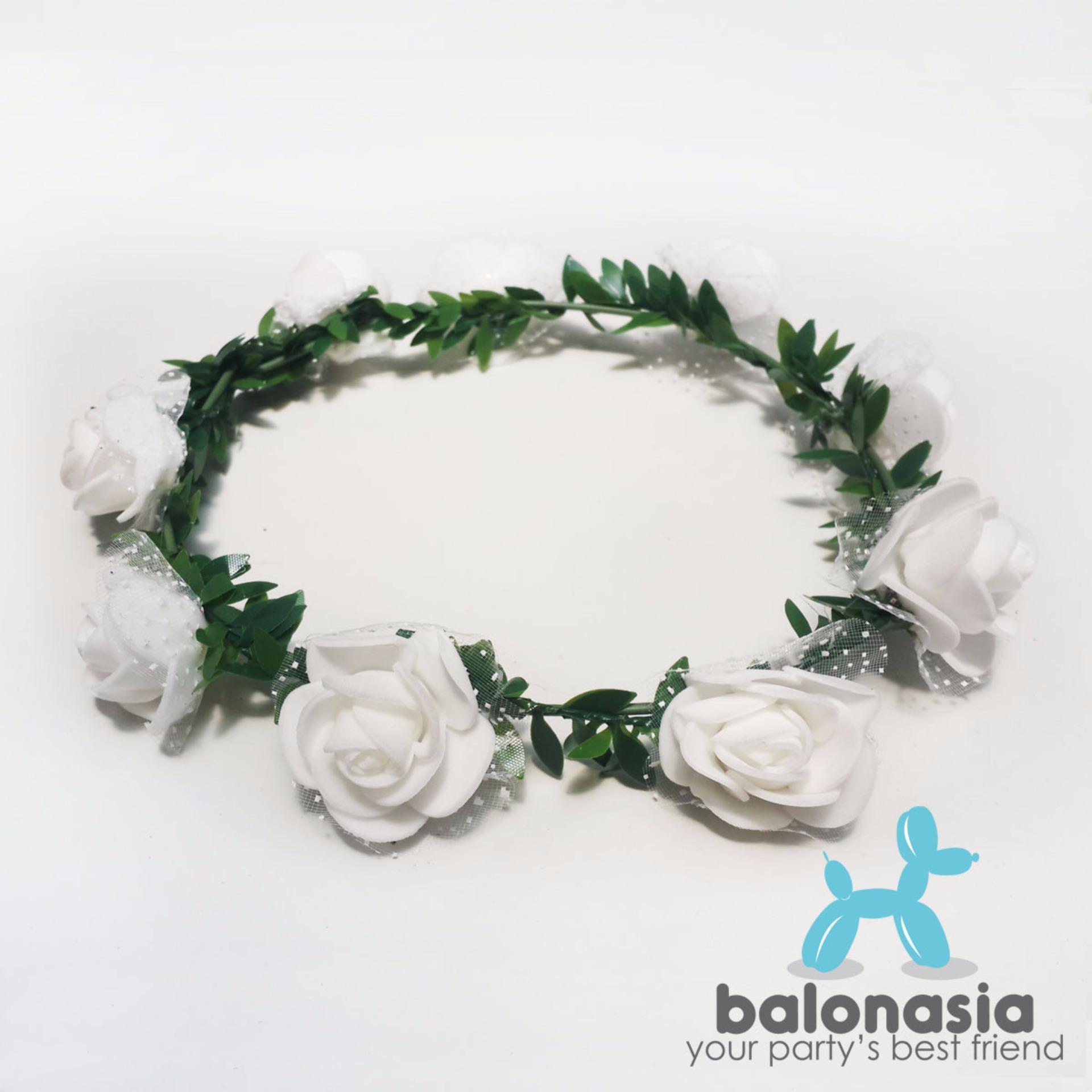 Beli diskon balonasia flower crown aksesoris pesta mahkota bunga balonasia flower crown aksesoris pesta mahkota bunga putih izmirmasajfo