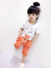 Iklan Bambu Katun Anak Perempuan Lengan Pendek Celana Pendek Bayi Laki Laki Jas Md Kuda Nil Jas Jeruk