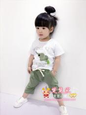 Beli Bambu Katun Anak Perempuan Lengan Pendek Celana Pendek Bayi Laki Laki Jas Md Lengan Pendek Gajah Jas Hijau Online Terpercaya