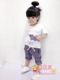 Beli Bambu Katun Anak Perempuan Lengan Pendek Celana Pendek Bayi Laki Laki Jas Md Lengan Pendek Gajah Jas Ungu Secara Angsuran