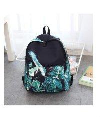 Kualitas Banana Leaf Printing Backpack Women For Teenage Teen Girls Canvas Backpack Sch**l Bag G*rl Black Intl Oem