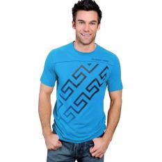 Bananana SS Zigzag Vector T-Shirt Pria - Blue