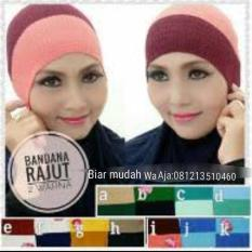 Kualitas Bandana 2 Warna Rajut Polos Isi 10 Pcs Hijab