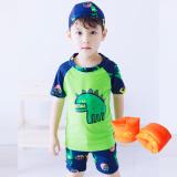 Toko Jual Baju Renang Model Terpisah Balita Anak Kecil Anak Besar Dinosaurus Hijau Dengan Topi Renang Lengan Lengan