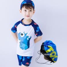 Beli Baju Renang Model Terpisah Balita Anak Kecil Anak Besar Dinosaurus Putih Dengan Topi Tas