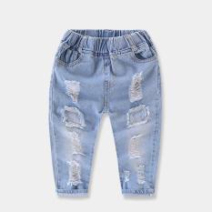 Promo Bayi Denim Untuk Anak Perempuan Dan Anak Laki Laki Pasang Dicuci Celana Jeans Simetris Lubang Denim Celana Simetris Lubang Denim Celana Murah