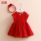 Harga Sayang Qz 3232 Korea Fashion Style Baru Gadis Anak Anak Rok Jahitan Gaun Merah Oem Ori