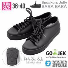 Diskon Besarbara Bara Sepatu Jelly Sneakers Silikon Shoes Cewek Silicone Kets Dd6382Els Black