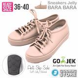 Beli Bara Bara Sepatu Jelly Sneakers Silikon Shoes Cewek Silicone Kets Dd6382Els Cream Coffee Murah Di Dki Jakarta
