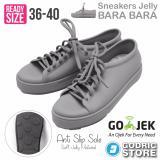 Beli Bara Bara Sepatu Jelly Sneakers Silikon Shoes Cewek Silicone Kets Dd6382Els Light Grey Secara Angsuran