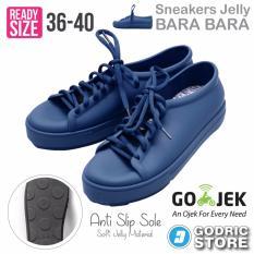 Bara Bara Sepatu Jelly Sneakers Silikon Shoes Cewek Silicone Kets - DD6382ELS - Navy Blue
