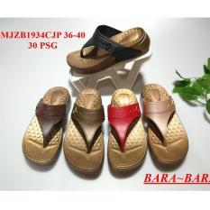 Bara~Bara - Sandal Wedges Jelly Wanita Karet Import 1934CJP Warna Dikirim Acak