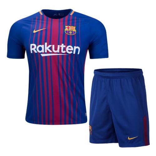 Setelan Baju Dan Celana Jersey Barcelona Home Setelan Dewasa 2017/2018
