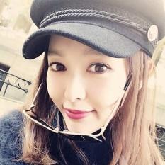 Spesifikasi Baret Korea Fashion Style Wol Ayat Yang Sama Musim Semi Dan Musim Gugur Topi Topi Topi Hitam Murah