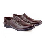 Beli Baricco Brc 205 Sepatu Loafers Formal Pria Kulit Asli Modis Dark Brown Pakai Kartu Kredit