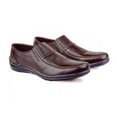 Dapatkan Segera Baricco Brc 205 Sepatu Loafers Formal Pria Kulit Asli Modis Dark Brown