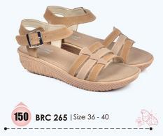 Kualitas Baricco Brc 265 Sandal Wedges Wanita Sintetis Cantik Menarik Cream Baricco