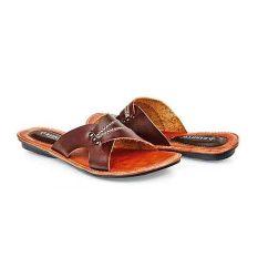 Baricco BRC 668 Sandal Teplek Casual Wanita Kulit Asli Bagus ( Coklat ) 4f223f47ca