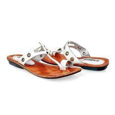 Baricco BRC 671 Sandal Teplek Casual Wanita Kulit Asli Keren ( Putih ) e384ef9093