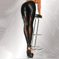 Harga K667 Kulit Baru Musim Gugur Tali Legging Hitam Hitam Asli