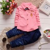 Jual Baru Anak Laki Laki Bayi Lengan Panjang Jaket Kemeja Katun Merah Muda Oem Original