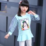 Harga Baru Anak Lengan Panjang Pullover Atasan Musim Semi Kaos Sweater Sifon Anak Perempuan Model Kaos Sweater Light Blue Oem Terbaik