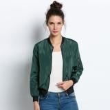 Jual Baru Dan Bergaya Kasual Wanita Lengan Baju Panjang Di Depan Ritsleting Jas Jaket Busana Lengkap
