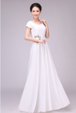 Jual Cepat Baru Besar Layanan Paduan Suara Gaun Pertunjukan Perempuan Kinerja Untuk Orang Dewasa Putih