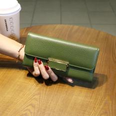 Toko Dompet Baru Kapasitas Besar Dompet Kulit Perempuan Hijau Online Di Tiongkok