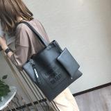 Harga Baru Kapasitas Besar Tas Tas Tote Bag Hitam Tiongkok