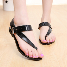 Review Baru Kristal Sandal Bunga Sandal Sandal Jepit Sepatu Hitam Tiongkok