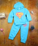 Katalog Baru Lengan Panjang Pullover Celana T Shirt Biru Superman Lengan Panjang Jas Terbaru