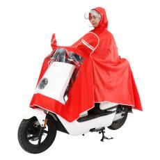 [D] model baru motor listrik sepeda motor dewasa Ganda Pinggiran topi Jas hujan Pria
