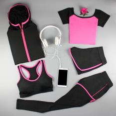1 Set 5 Pcs Baju Olahraga Wanita Rose Lima Potong Rose Lima Potong Oem Diskon 40