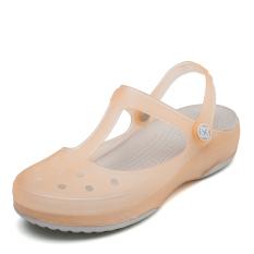 Sepatu Berlubang Rak Konter Khusus Produk Asli Sepatu Jelly Baru Non-slip (VEBLEN bubuk mutiara/platinum)